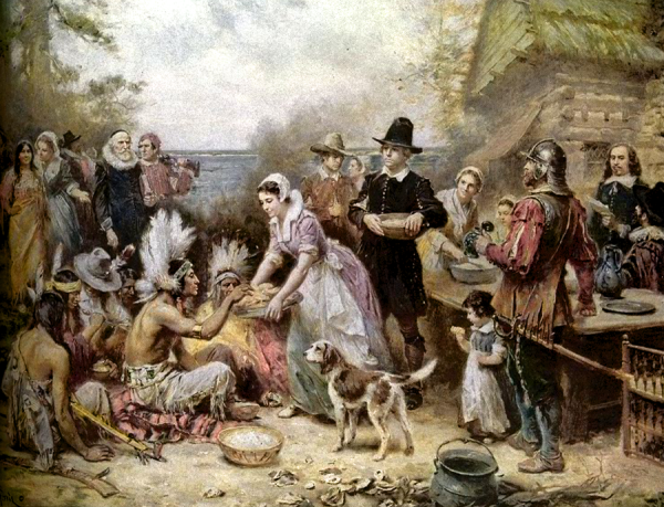 first-thanksgiving painting